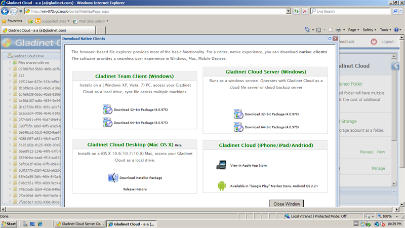CentreStack (Gladinet Cloud Enterprise) Client Deployment Guide